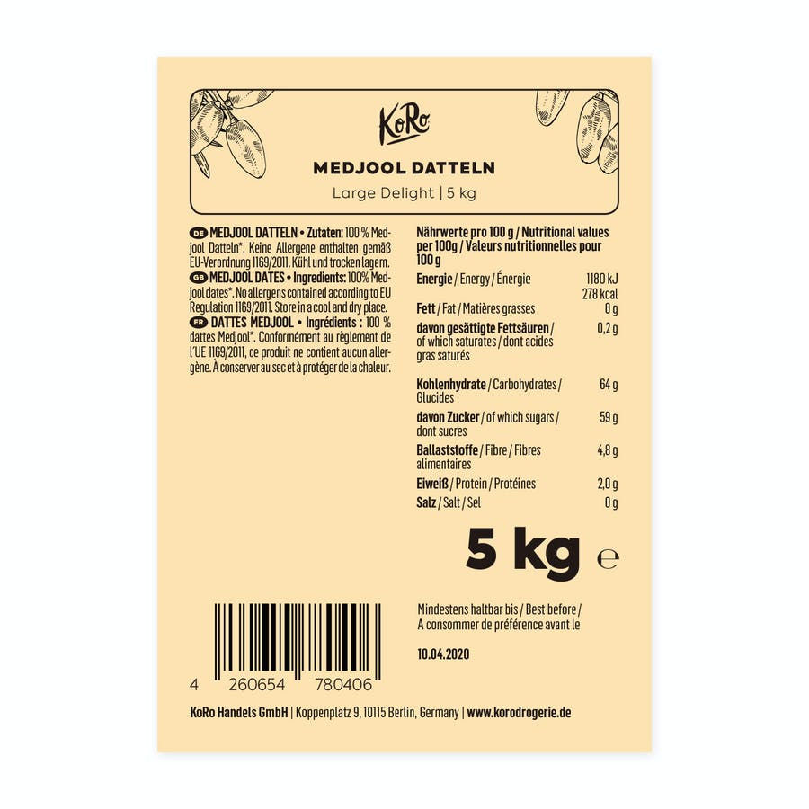 MEDJOOL DATTELN LARGE DELIGHT | 5 KG