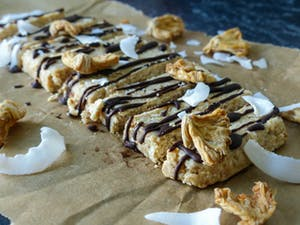 Pineapple coconut tropical bars