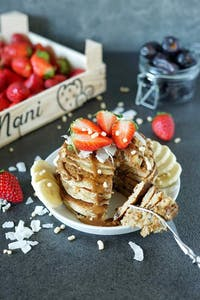Pancakes dattes-coco