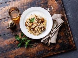 Walnuss-Risotto
