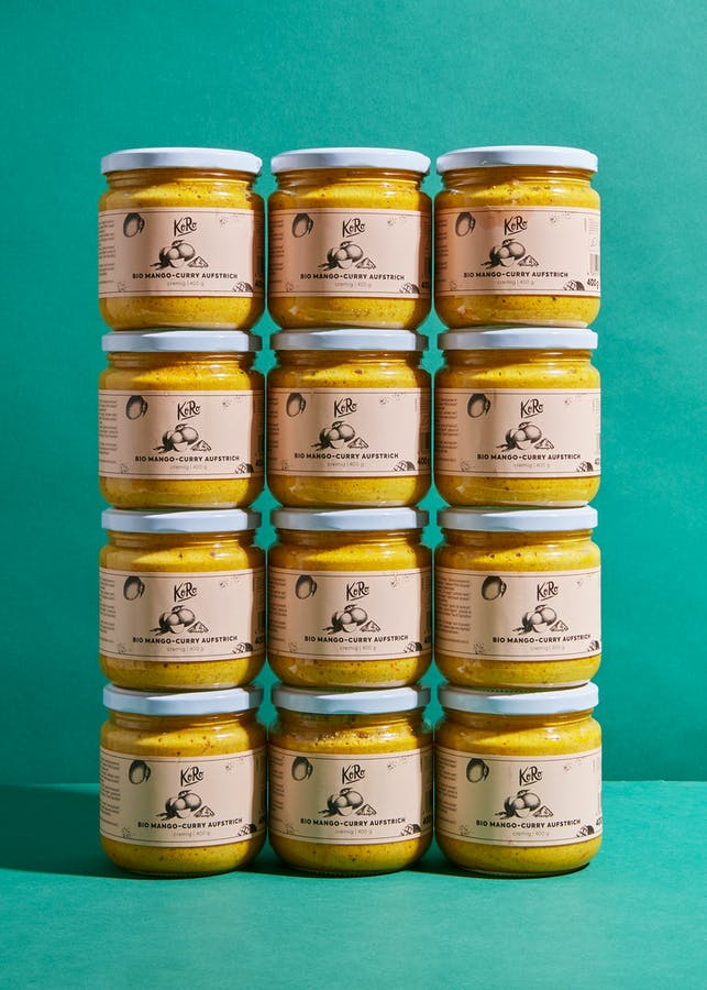 Biologische mango-curry spread | 12 x 400 g
