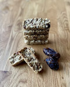 Homemade oats and dates bar