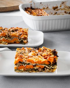 Lasagna with carrots and spinach