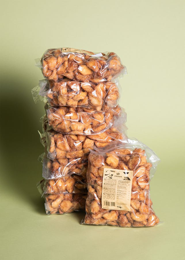 Cinnamon and sugar coated apple pieces | 8 x 1 kg