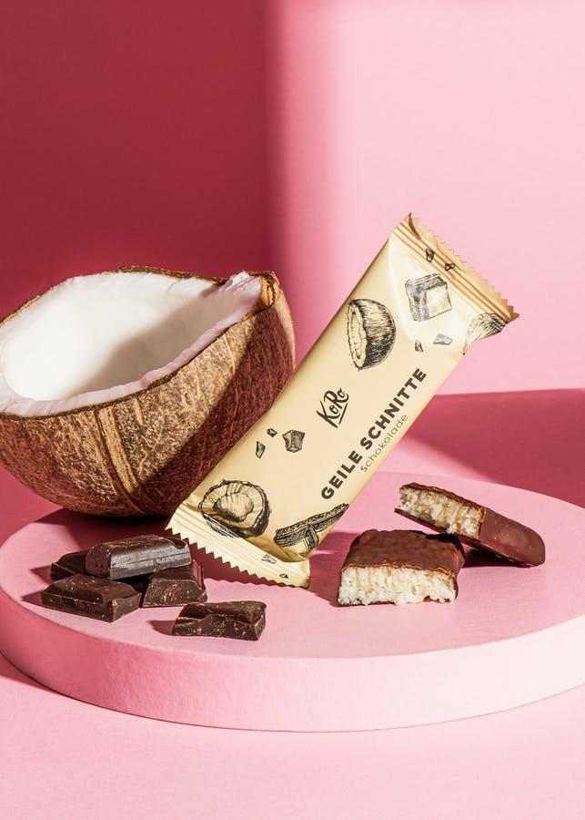 Organic coconut and chocolate bar 30 g
