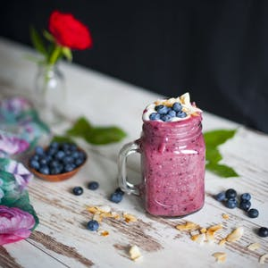 Smoothie gourmand à la myrtille