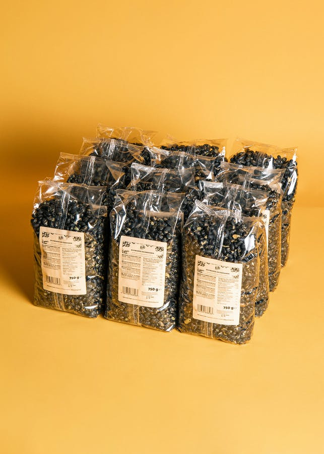 Black Soy Beans roasted and salted | 12 x 750 g