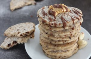 Chocolate Chip Peanut Pancakes