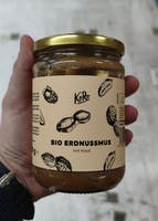 Organic peanut butter with skin  500 g